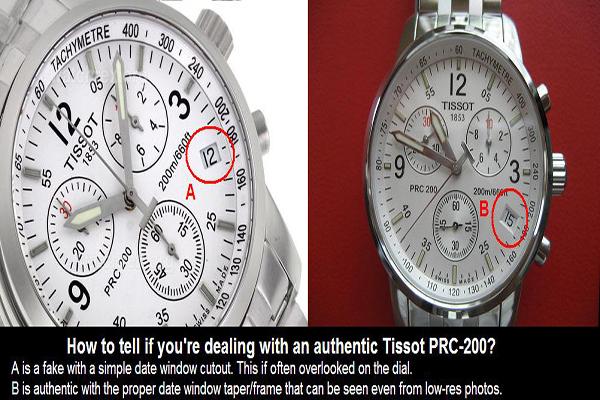 0 phân biệt đồng hồ tissot fake như chuyên gia